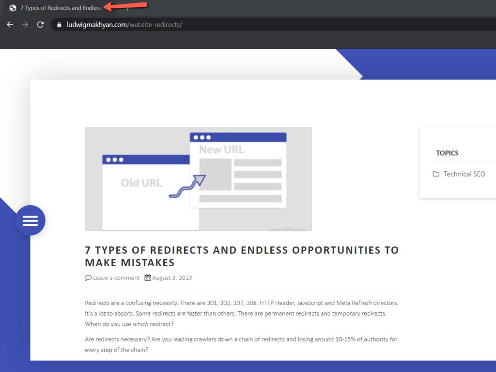 Website Meta Title